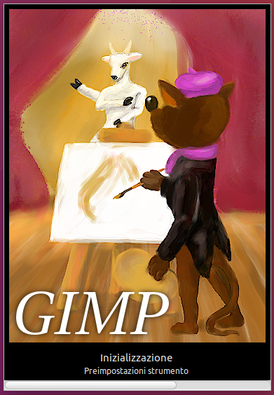 Gimp Splash screen